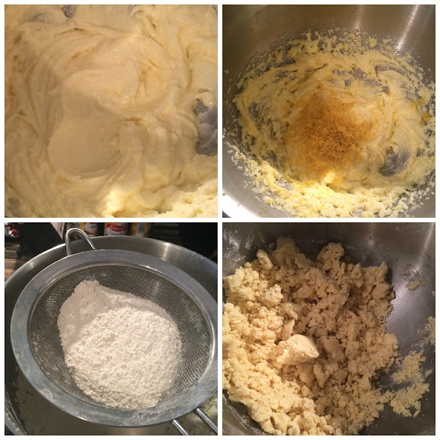 Photos of the steps for Making the Shortbread