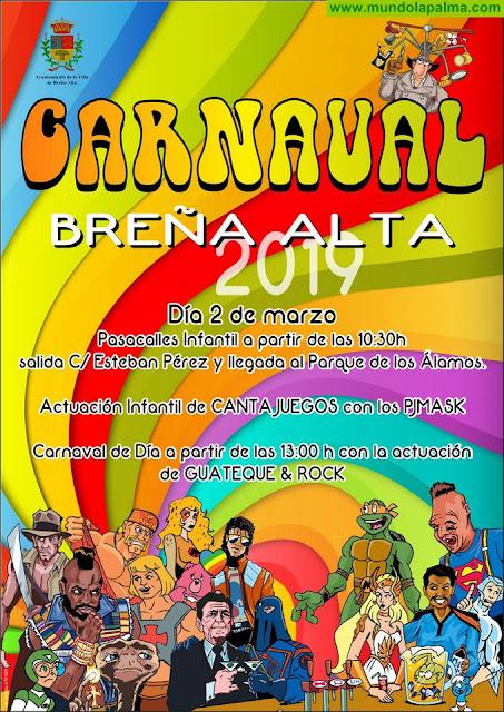 Breña Alta se prepara para su gran Día del Carnaval con Pasacalles y actuaciones en directo