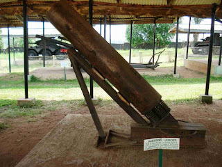 Biafran made ogbunigwe rocket weapon