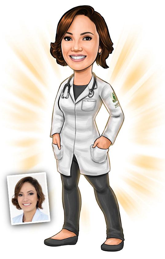 caricatura formandas medicina