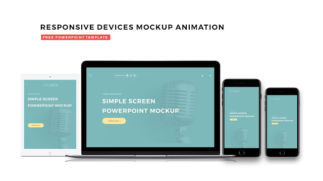 Responsive Devices Mockup Animation for PowerPoint Templates