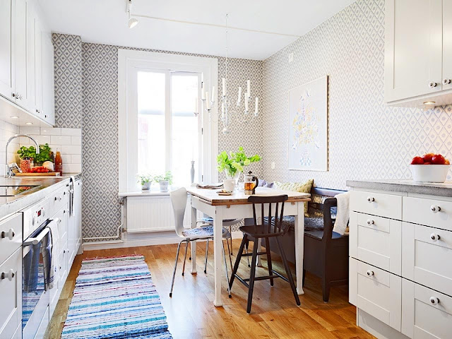 beautiful Apartment Therapy Small Kitchen Part - 13: small kitchen apartment therapy ideas with small dining table and chairs  for modern kitchen design.