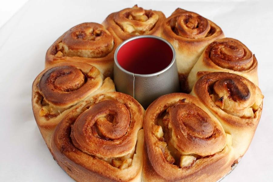Receta Rollos de manzana con salsa de caramelo o caramel apple rolls