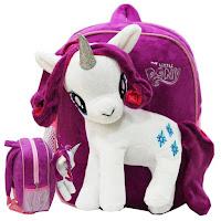 MLP Fake Rarity Plush Backpack