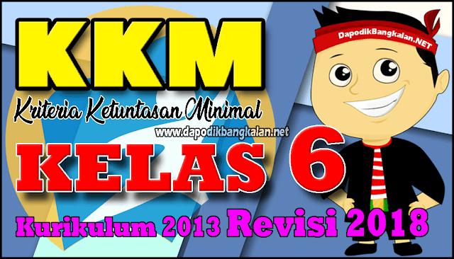 KKM Matenatika Kelas 6 K13 Revisi 2018 Semester 2