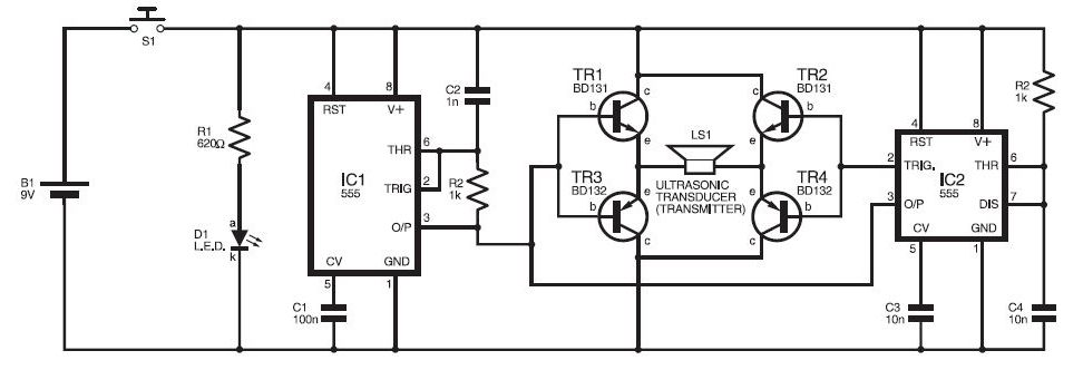 ultrasonic pest repellant circuit diagram