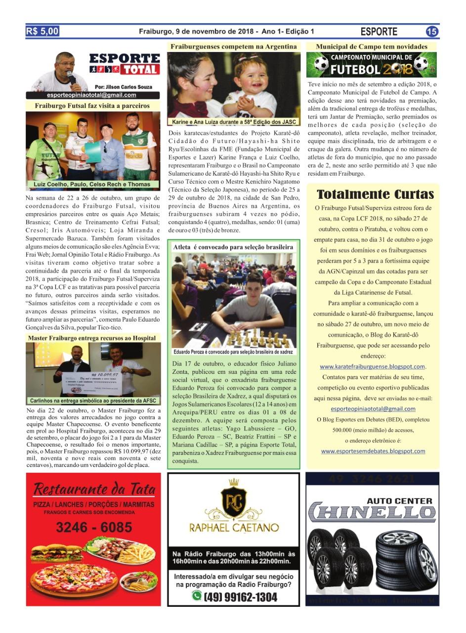 0b09c7f93 Jornal A Opinião circula em Fraiburgo desde sexta-feira 09 de novembro