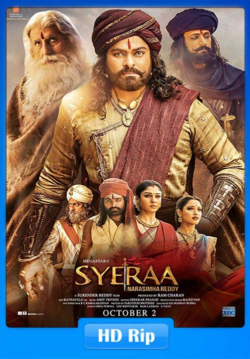 Sye Raa Narasimha Reddy 2019 Hindi 720p HQ HDRip ESub x264 | 480p 300MB | 100MB HEVC