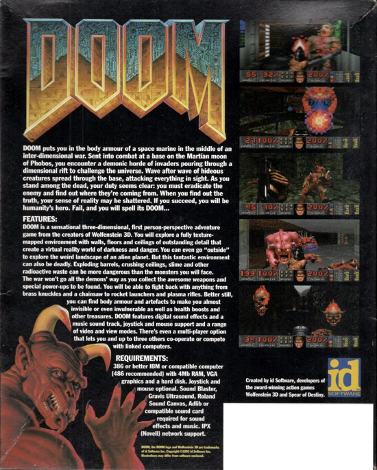 DOOM 1993 cover art - back