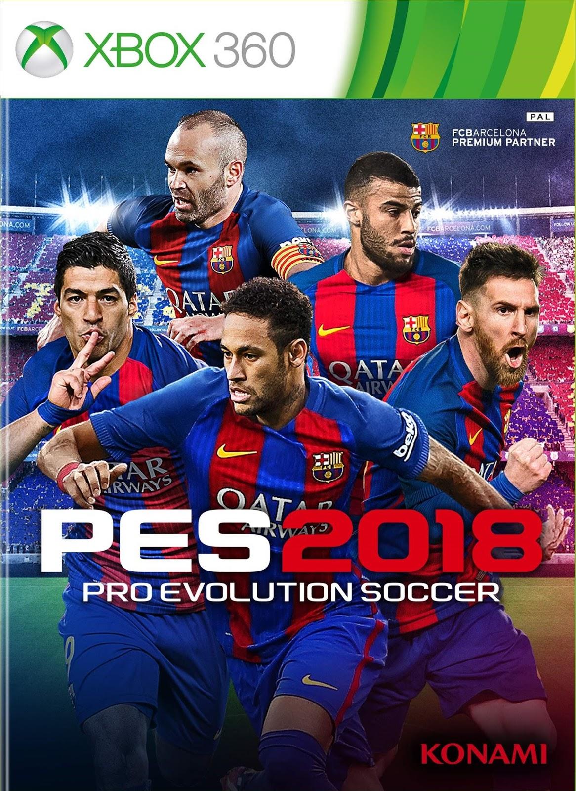 Pro Evolution Soccer 2018 Xbox 360 Espanol Latino Iso Rgh
