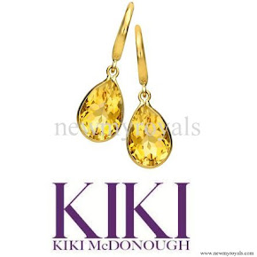 Kate Middleton Kiki McDonough Citrine Pear Drop Earrings