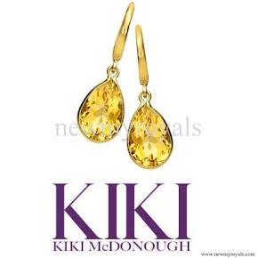 Kate Middleton Kiki McDonough Citrine Pear Drop Earrings