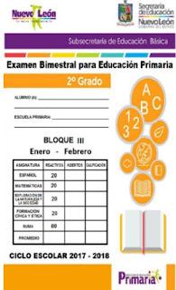 2° grado Examen Bimestral Primaria