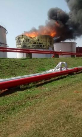 Explosão de dois tanques em Usina de Paraíso mobiliza força-tarefa