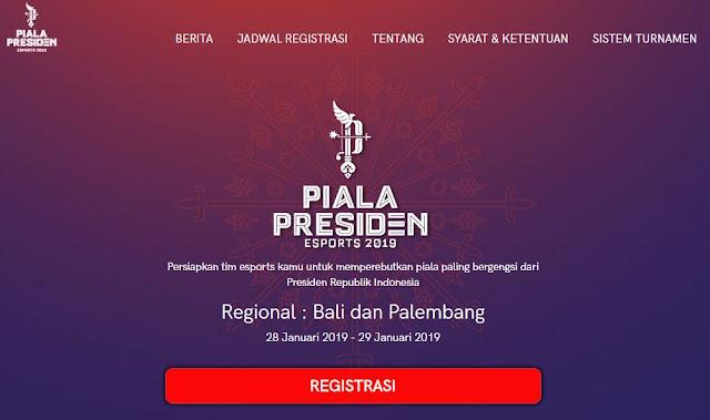 Cara Registrasi Piala Presiden Esport 2019 Mobile Legends