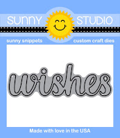 Sunny Studio Stamps Heartfelt Wishes Word Die