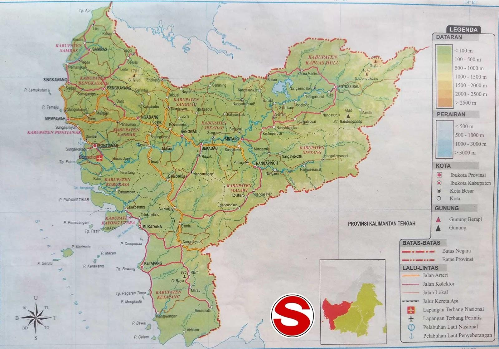 Gambar Peta Atlas Provinsi Kalimantan Barat