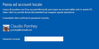 usare account locale in windows 10