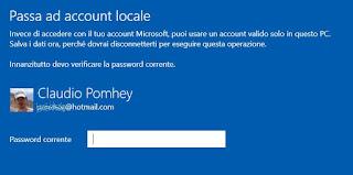 usare account locale in windows 10