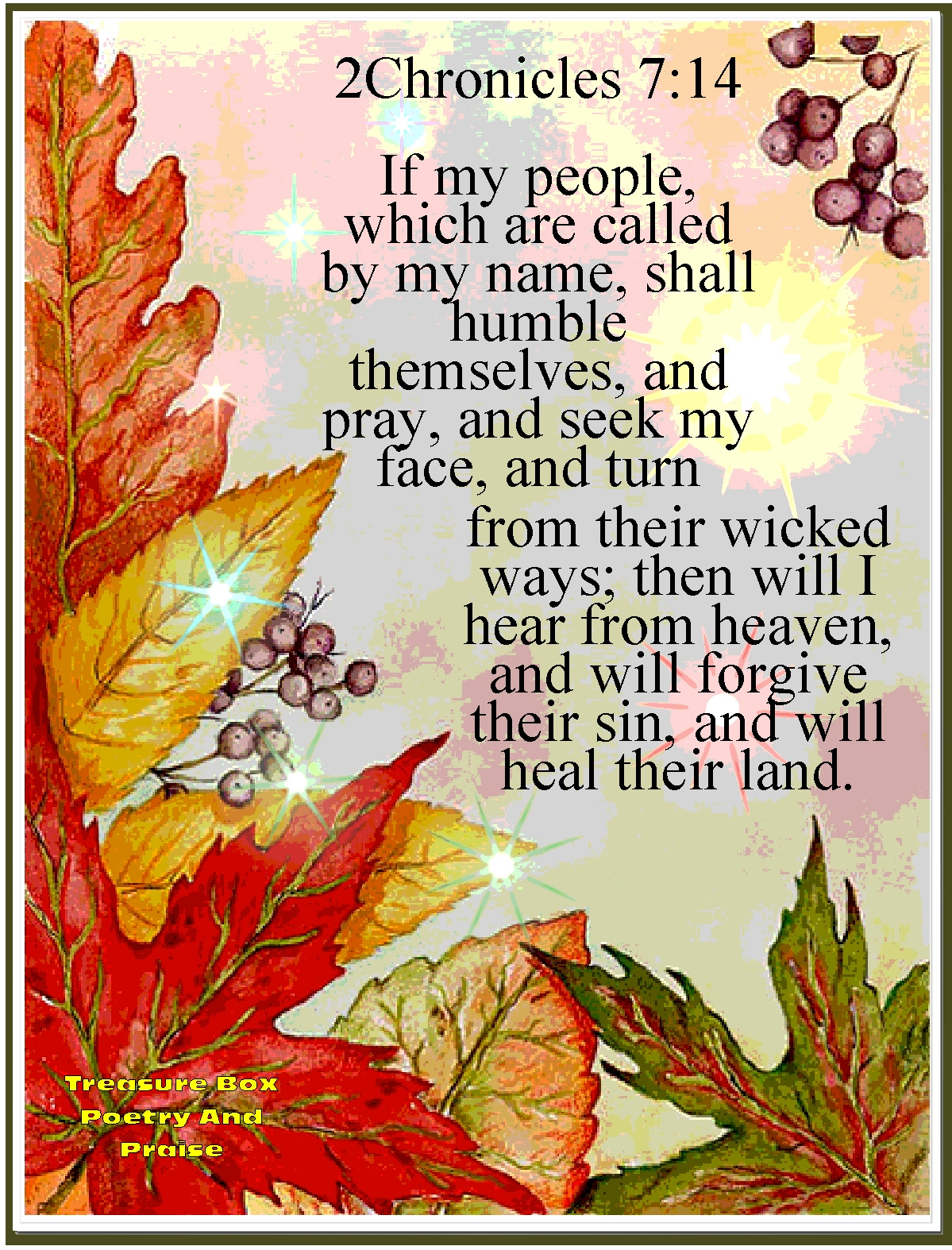 Christian Images In My Treasure Box: Fall Harvest Poem ...