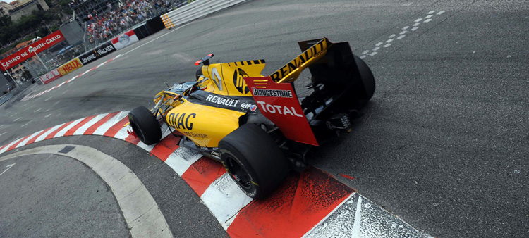 Robert Kubica con Renault en Mónaco 2010