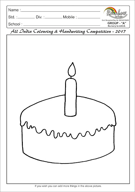 Colouring page for Group A (Nursery to UKG)