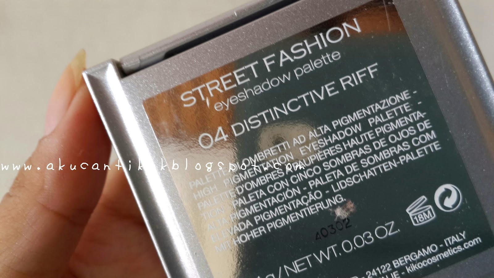 Bali Beauty Blogger Review And Swatch Kiko Street Eyeshadow