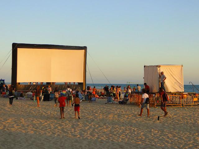 Cine de verano en la Playa de la Victoria
