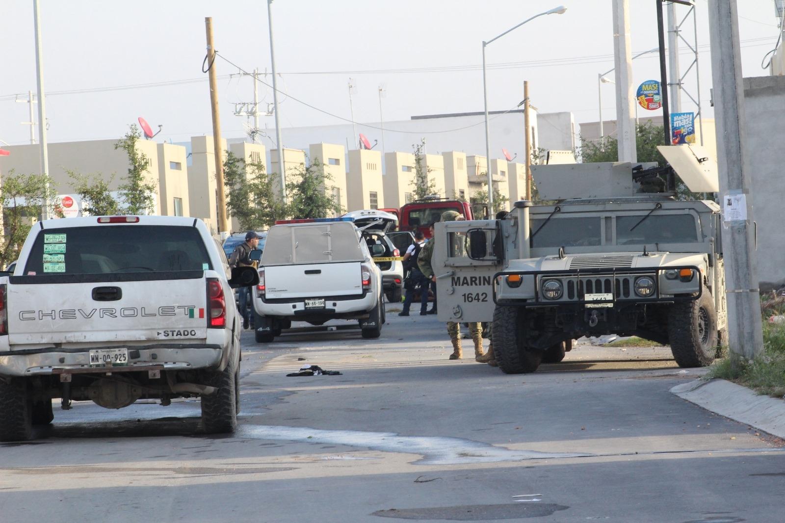 Reynosa; Abaten Marinos a dos Sicarios en Fraccionamiento Ventura
