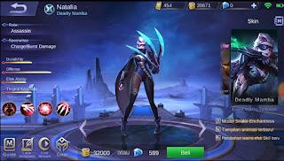 Cara Mendapatkan Skin Natalia Deadly Mamba Mobile Legends Gratis