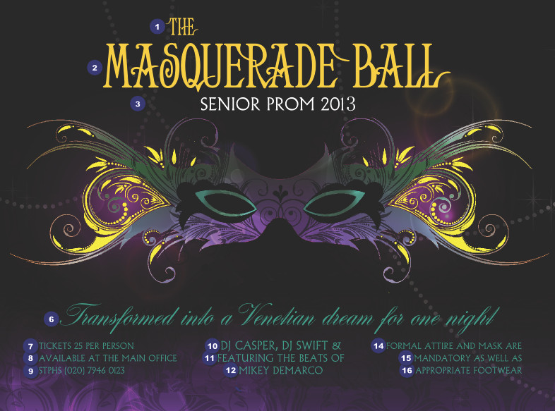 Raining Blossoms Prom Dresses Masquerade Ball for Prom Theme 2013