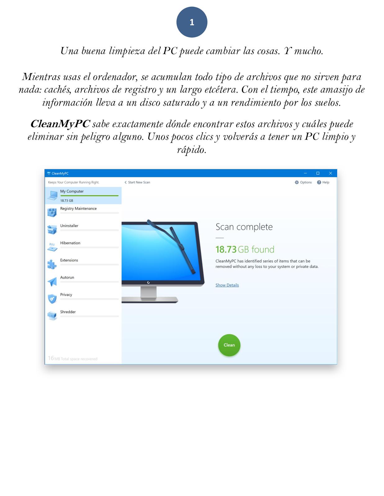 Nuevo CleanMyPC para WINDOWS 10   Paginas Difíciles que no le has ...
