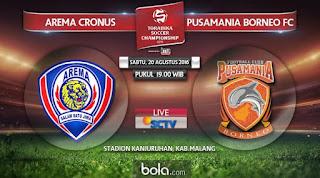 Arema Cronus vs Pusamania Borneo FC 1-2