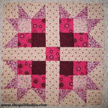 Free Star quilt pattern from 53 Quilt Block Pattern Book