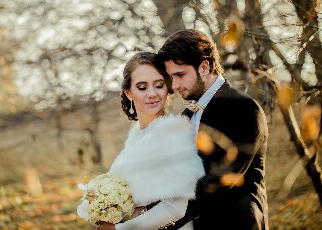 Jesienny, złoty plener ślubny