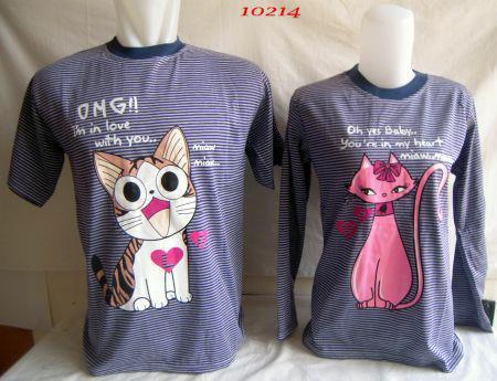 Baju Couple Gambar Kucing - Couple Keren