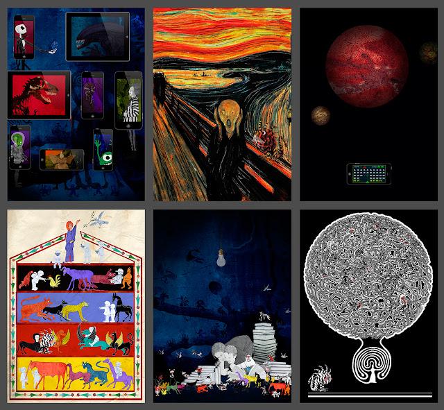 cine, pintura,marcianos, arca de Noe, libros, mitos