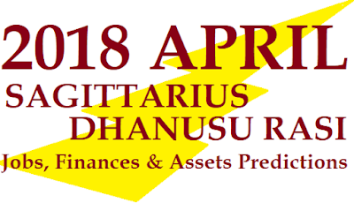 2018 April Dhanusu Rasi Phalalu