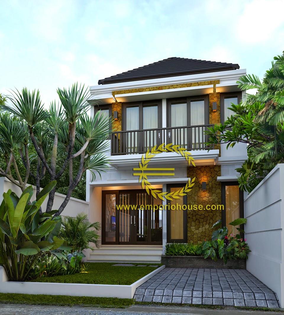 Desain Rumah Minimalis Modern 2 Lantai Lebar 6 Meter