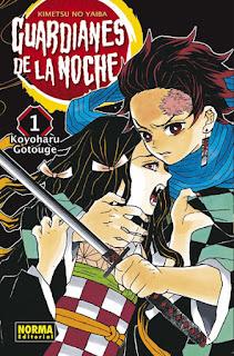 """¡SORTEO! Comparte y gana """"Guardianes de la Noche (Kimetsu no Yaiba)"""" núm 1 de Koyoharu Gotouge."""