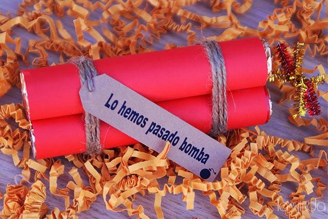 regalo original bomba chocolate boda