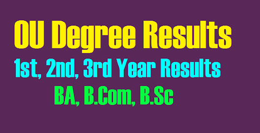 Manabadi OU Degree 1st, 2nd, 3rd Year Results 2018 of BA, B.Com, B.Sc Osmania University osmania.ac.in