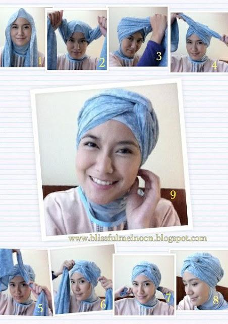 Tutorial Style Hijab Pashmina Turban Ala Arab