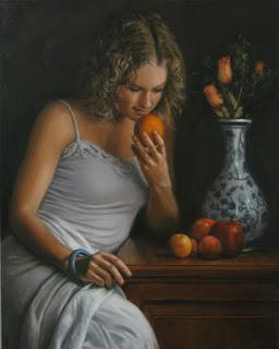 pintura-realista-mujeres-sentadas