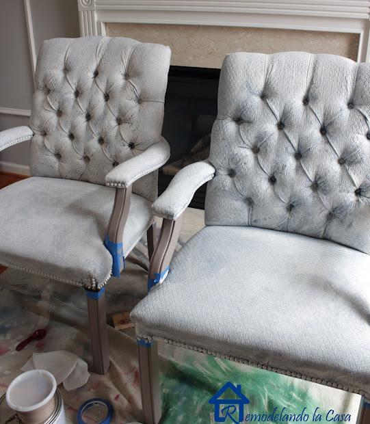 Fabric Painted Chairs - Remodelando La Casa