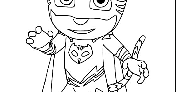 Disney PJ Masks Coloring Pages Free Download Coloring Page