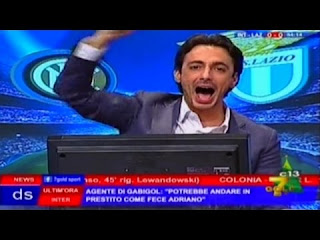 Telecronisti tifosi Inter Lazio 3-0 Tramontana a Direttastadio