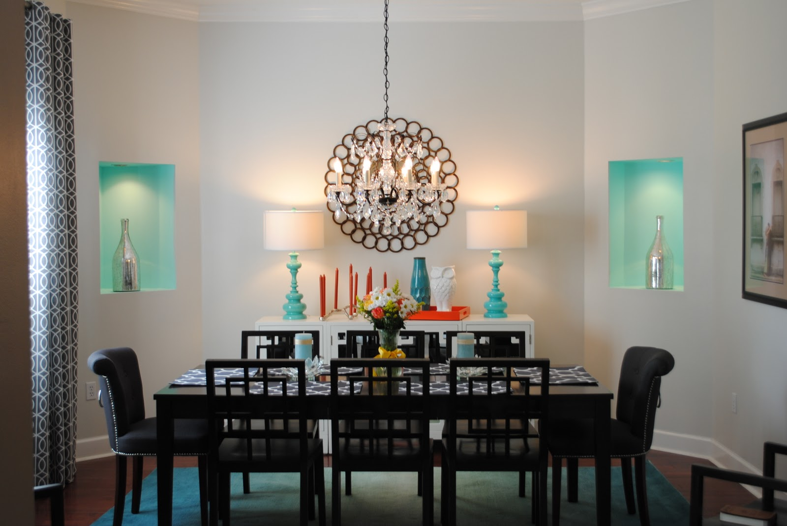 Room Decor: Alamode: Client E-Decor BEFORE And AFTER: Glitzy Dining
