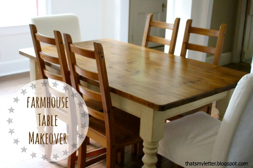 That's My Letter: DIY Farmhouse Table Makeover