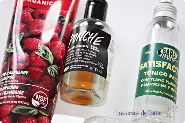 productos terminados desert essence lush bara cosmetics